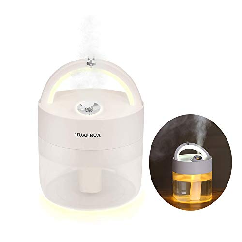 HUANHUA Baby Humidifier, Portable Ultrasonic Cool Mist Humidifiers 1000 mL with LED Light Waterless Auto Shut Off Whisper Quiet for Home,Baby Room, Office