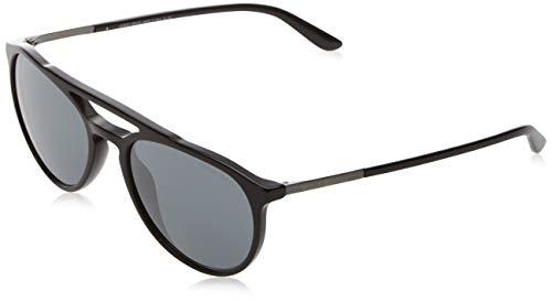 Armani 0AR8105 50176G 55 Gafas de sol, Negro (Black/Greymirrorblack), Hombre