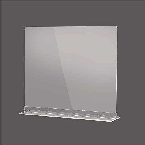 飛沫感染予防 透明アクリルパーテーション 多種サイズ 組立簡単 角丸加工 デスク用スクリーン 間仕切り カウンター 飲食店など最適サイズ (約幅500x高さ400mm) dpt-n5040