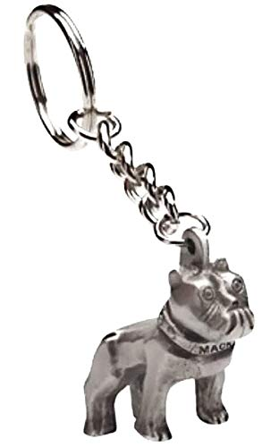 Mack Bulldog Hood Ornament Keychain - Silver