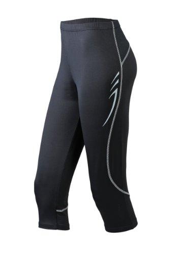 James & Nicholson Herren Sport Legging Running 3/4 Tights schwarz (black) Large