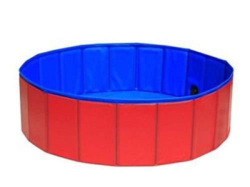 Jieer Kinderplanschbecken,Hunde-Planschbecken, Klappbare Haustierbadewanne, PVC-Haustier-Schwimmbad-Red_80 * 20Cm, Hundebecken Faltbares Hunde-Haustier-Kinderbad