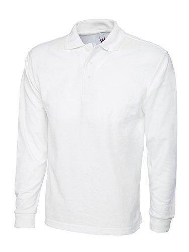 Monogram - T-Shirt à manches longues - - Col polo - Manches longues Homme - Blanc - Blanc - Taille XXXL
