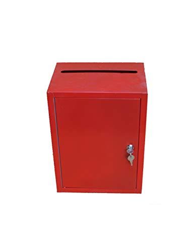 XMGJ Buzones con sistema de seguridad Urna urna Elección grande Cofre de donaciones de amor con candado Cajas de sugerencias Cajas de donaciones de aterrizaje Buzones