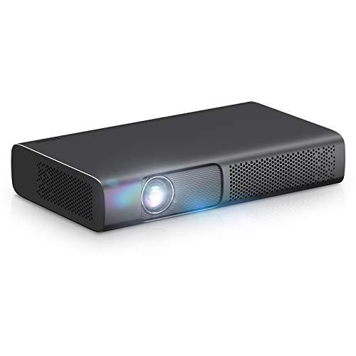 Full HD WiFi Bluetooth Proyector 1080P Soporte Nativo 4K 7000 Lumen LED Smart Wireless Android Inicio Cine Al Aire Libre Proyectores Compatible Stick De TV, HDMI para El Hogar/Negocios Uso