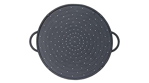 WellBake Large Silicone Splatter Guard/Pizza Tray - Black - 31cm 10 Year Guarantee
