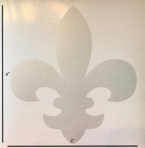 Fleur De Lis Glass Door Indicator Decals Glass Safety Stickers - 3 per Package - Keep Children Safe - Alert Birds, Dogs, Kids - Warn, Protect, Window Safety (Frosted Glass)