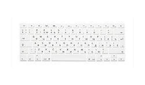 Funda de teclado de silicona transparente para MacBook Air/Pro 13/15 A1502 A1398 A1278 (versión europea, ruso) 2015 de color blanco