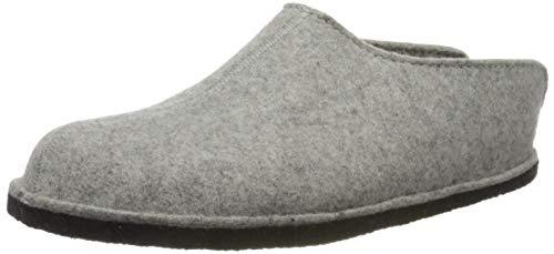 Haflinger Flair Smily, Pantoffeln, Unisex-Erwachsene, Filz aus reiner Wolle, Grau (Steingraumeliert 284), 42 EU