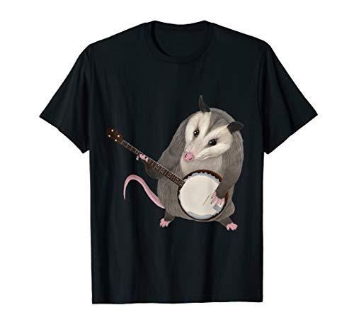 Opossum beim Banjo -Possum T-Shirt