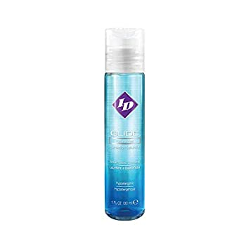 ID Lubricants Glide 1 FL OZ Natural Feel Water-Based Personal Lubricant Pocket Bottle White Ultra Clear Liquid
