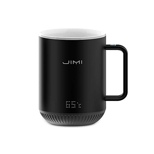 The Smartshow Smart Temperature Control Ceramic Mug,Warmer for Home/Office/Coffee/Tea/Milk/Juice,Best Gift Idea,Remote Interaction,Touch Tech&LED Display