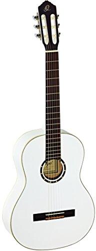 Ortega Guitars R121WH Konzertgitarre in 4/4 Größe weiß im hochglänzenden Finish mit hochwertigem Gigbag