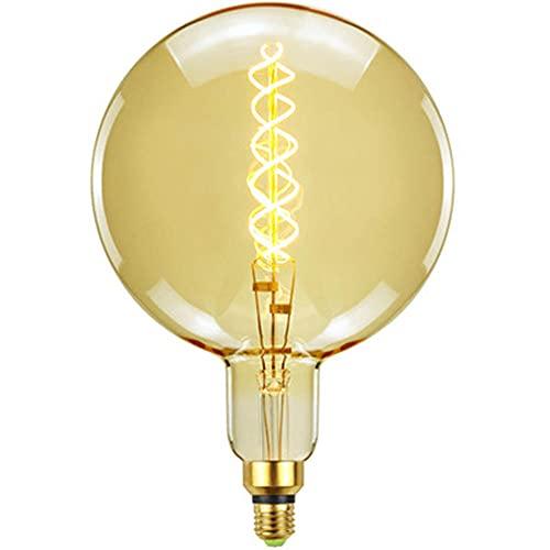 KCBYSS Bombilla antigua G200 con filamento, estilo retro, bombilla LED antigua, cálida, decorativa, 220 V, 6 W, E27