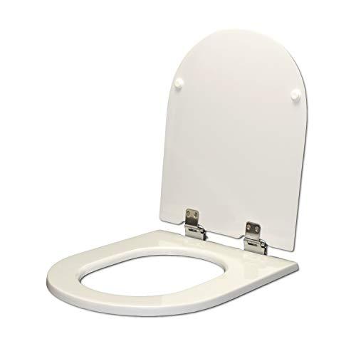 WC-Sitz Keramag COURREGE weiß WC-Sitz WC Deckel Achsen