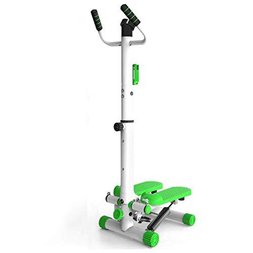 WEI-LUONG plegable Equipamiento del hogar aptitud paso a paso con reposabrazos aparatos de ejercicios de peso pérdida de montaña máquina moto Inicio pérdida de peso multifunción (color: verde, Tamaño: