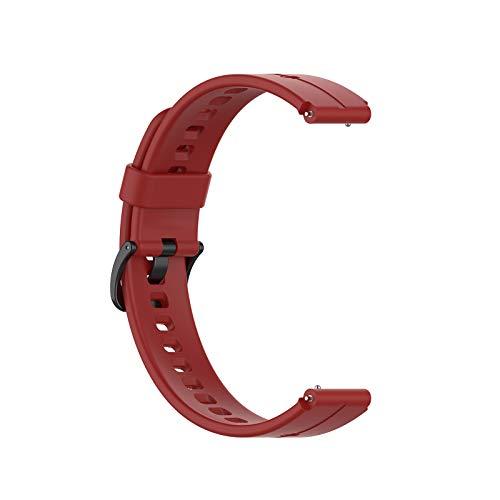 Ixkbiced Correa de Silicona Universal de 16 mm para Reloj -Huawei TalkBand B3 B6 TIMEX Watch