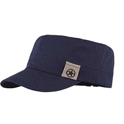 Aisoway Techo Plano Unisex Sombrero Militar Cadete Patrulla Bush Sombrero de Las...