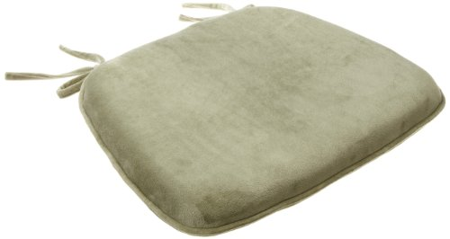 Brentwood Plush Memory Foam Chairpad, Green Tea