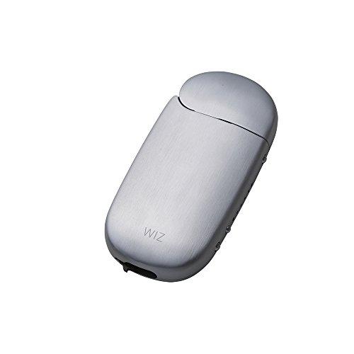iQOS アイコス 用 アルミ ケース 2.4 Plus / 2.4 両対応 ストラップホルダー付き 工具不要 ネオジウム磁石で簡単装着 WIZ (シルバー)