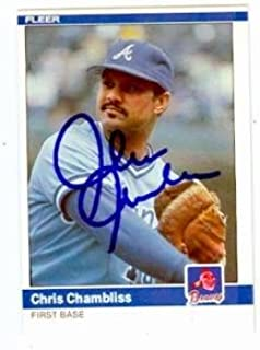 Chris Chambliss autographed baseball card (Atlanta Braves) (67) 1984 Fleer #175 - Autographed Baseball Cards