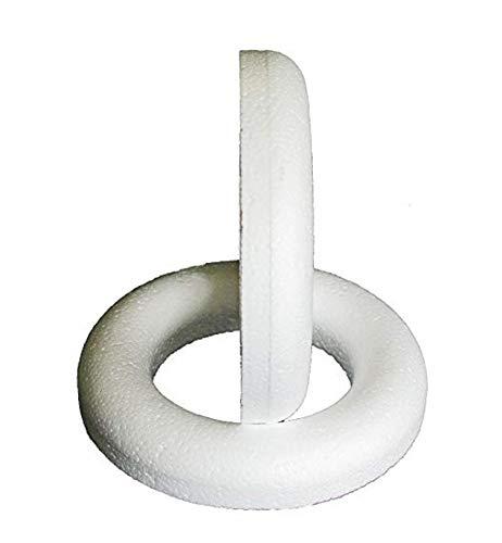 Half Ring Polystyrene Rings/Wreaths for Wreath Making Supplies Decorative Items DIY Handmade 25cm 5Pcs