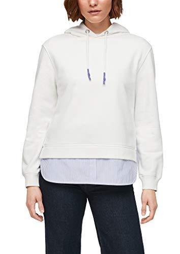 s.Oliver Damen Sweatshirt mit Layering offwhite 42