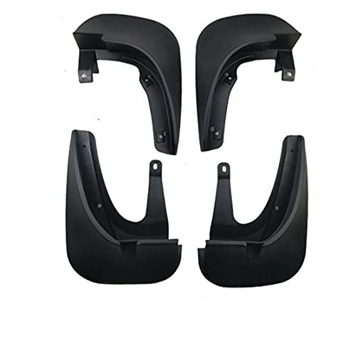 NADAENDR 4 guardabarros de coche para HYUNDAI TUCSON 2008 – 2019 delantero trasero duradero kit de protección contra salpicaduras de fácil ajuste, accesorios para el cuerpo (ForTUCSON08-12, negro)