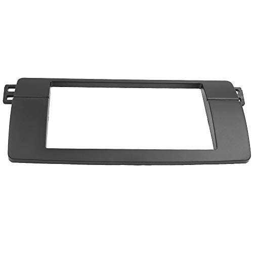 Adaptador Fascia Marco De 2din para BMW 3 Series E46 Double DIN Fascia Radio DVD DVD Trim STETE Stey Instalación 180 * 105mm Apertura (Color Name : White)