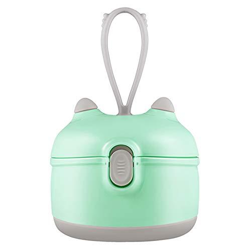 Baby Formula Dispenser, Portable Milk Powder Dispenser Snack Storage Container for Travel Bedroom Outdoor … (Green)