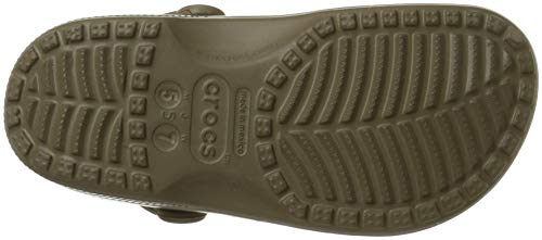 Crocs Classic, Zuecos Unisex Adulto, Khaki, 43/44 EU