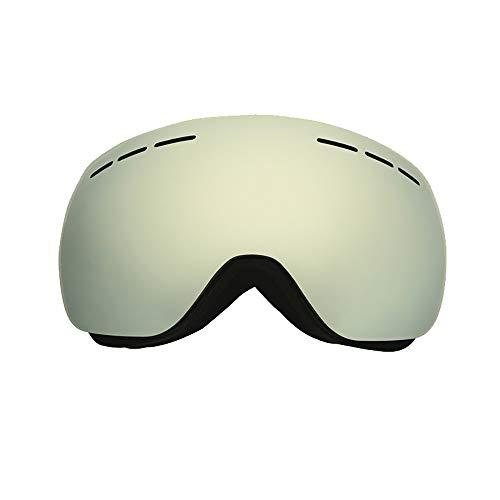 CXJ Gafas Esquí Ski Gafas Goggle Lente Doble Snowboard De Sol Professional Anti Fog UV,A