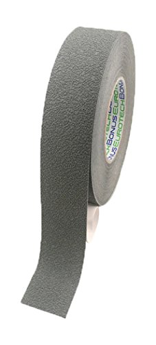 BONUS Eurotech 1BL43.92.0025/018 Anti-slip plakband, lijm op acrylbasis, crêpe PVC folie, lengte 18 m x breedte 25 mm x dikte 0,70 mm, grijs