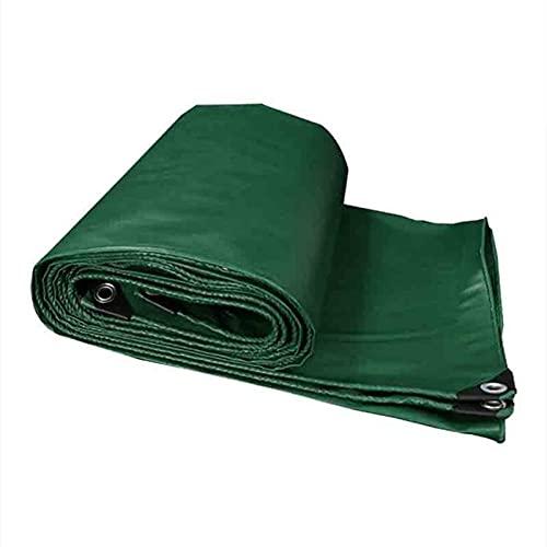 GYL Lona Resistente, Lonas de Poliéster Bordes Reforzados, Impermeable Resistente Rayos Ultravioleta a Prueba de Rasgaduras y Rasgaduras, para Carpa con Toldo de Lona, Cubierta de Piscina, Verde