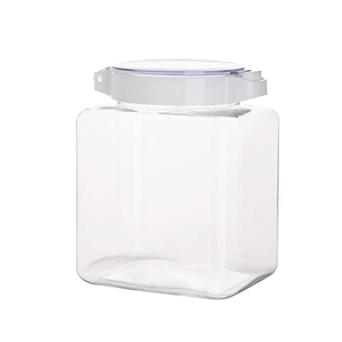 WOHCO Airtight Cookie Jars, Kitchen storage container with lids, Moisture-proof Sealed Jar Plastic Transparent Grain Fresh-keeping Jar Snack Storage Jar