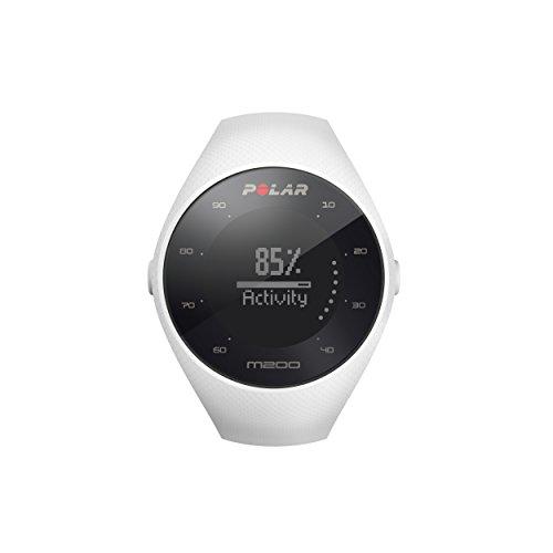 Polar M200 - Reloj de Running con GPS y Frecuencia cardíaca en la muñeca - Actividad 24/7 - Blanco, M/L