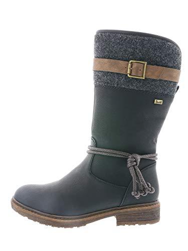 Rieker Tex Damen Stiefel 94778, Schwarz - 2