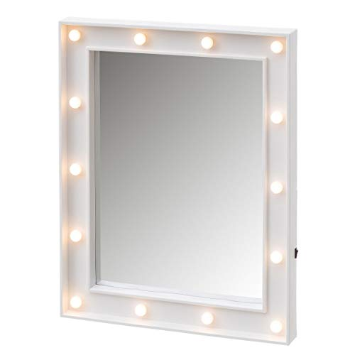 Espejo Luces Vintage Blanco led de 49x39 cm - LOLAhome