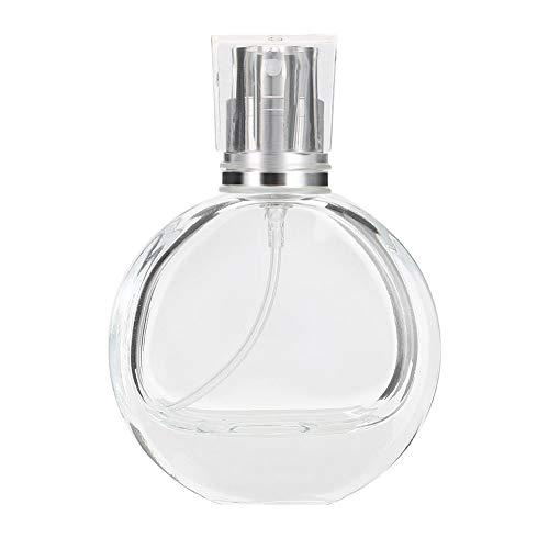 Botella de Perfume, 25ml Portátil Vacío Plástico Transparente Rociador de Perfume Atomizador Cosmético Botella de Aerosol de Viaje Vacía