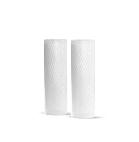 Rollos Gofrados Alto Vacío para Selladoras ó Envasadoras al Vacío Besser Vacuum 2 piezas-15x600 cm - 90micras - Grado Alimenticios CE