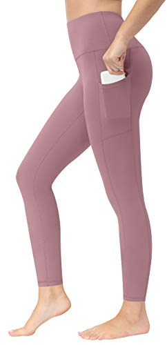 Fengbay High Waist Yoga Pants, Pocket Yoga Pants Tummy Control Workout Running 4 Way Stretch Yoga Leggings Lilac