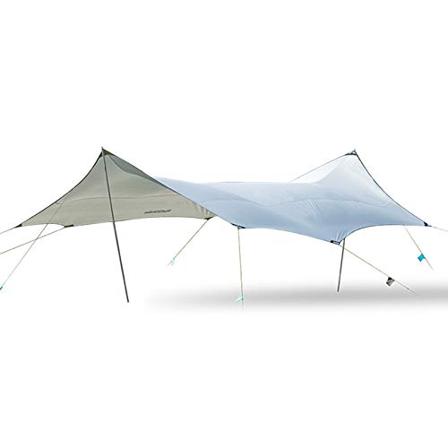 Sun Sail Shade Awning 150D Camping Awning Sun Canopy For Automatic Driving Rainproof Camping Pergola Easy to Use (Color : Gray, Size : 680x576cm)