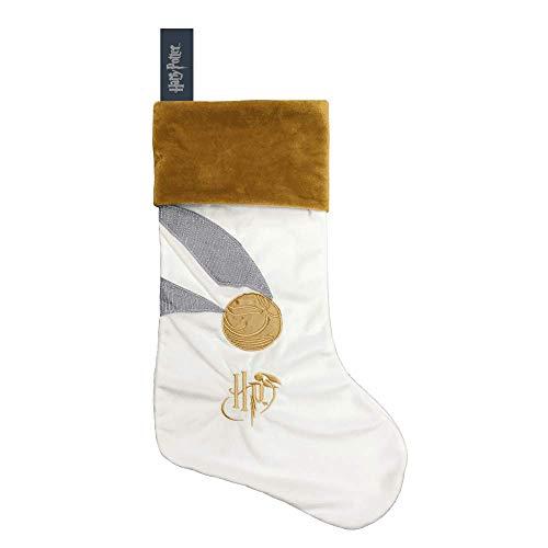 HARRY POTTER Golden Snitch Fleece Christmas Stocking