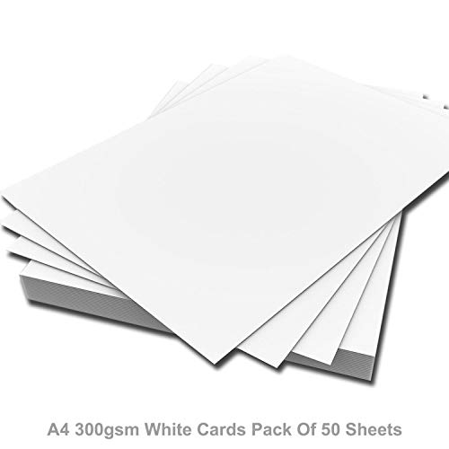 ARK A4 Premium Dik Wit Printer Craft Card 300 g/m² (Pak van 50 vellen)
