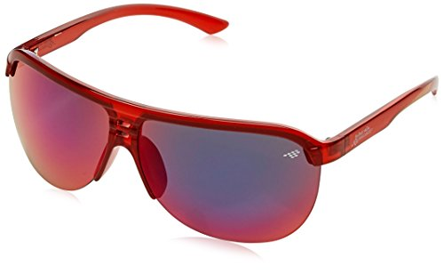 Red Bull Racing Eyewear Unisex - Erwachsene Sonnenbrillen Sports-Tech, Gr. One Size, Shiny Transparent Red/Smoke With Red Revo