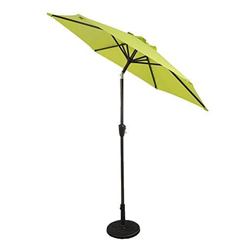 Sywlwxkq Parasols Paraguas de Mercado de Patio de 7 pies - Sombrilla de Mesa de jardín al Aire Libre con Ajuste de inclinación, Tela Resistente a la decoloración, ventilación de Viento (Col