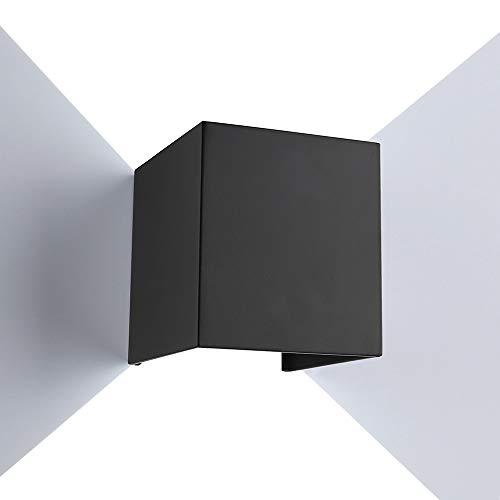 ETiME Lampada da Parete Interni LED Moderno, 12W Applique da Parete Esterno, Lampada da Muro Su e Giù Angolo Regolabile IP65 Impermeabile Bianco Freddo per Camera da Letto Soggiorno Scale Corridoio