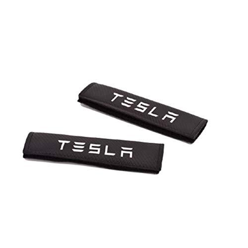 Almohadillas Para Los Hombros CinturóN De Seguridad Del AutomóVil Almohadillas,Para Tesla Model 3 Model S Model X El AutomóVil Moda Cubierta CinturóN De Seguridad Accesorios Para El AutomóVil 2 Piezas