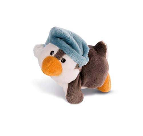 NICI 42004 Winter Magnettier Pinguin Toddytom, 12 cm, weiß/grau