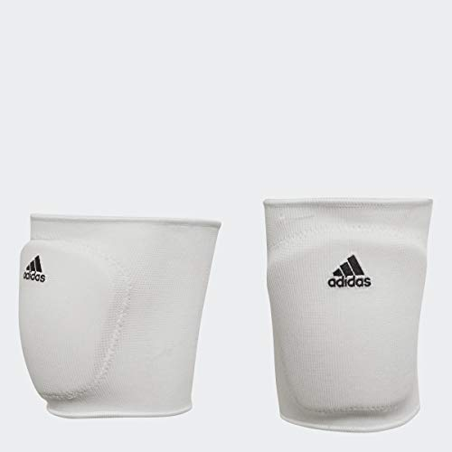 adidas Adult 5-Inch Volleyball Performance Knee Pads One Pair Per Pack, White/Black, Medium